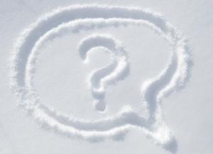 Fragezeichen im Schnee