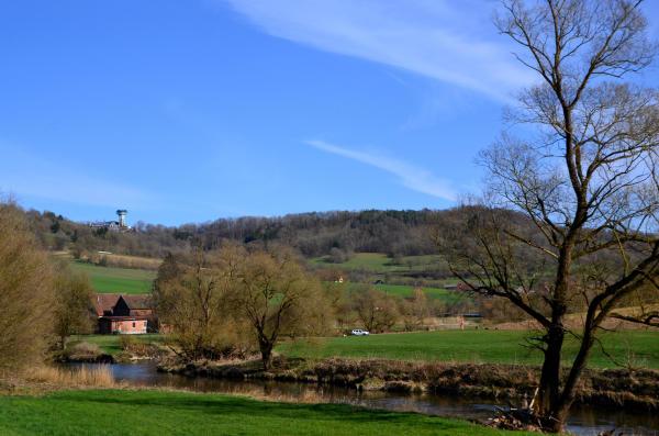 an der Jagst unterhalb von Langenburg