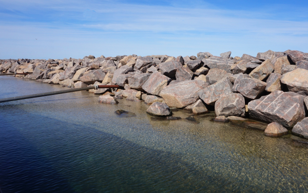 Schutz  vor der rauen See