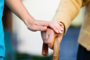 2 Hände die sich berühren