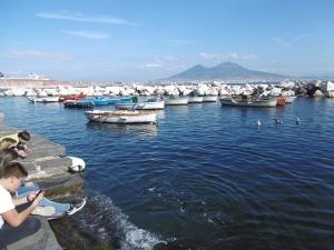 Das gefiel mir am besten - die Bucht mit Blick auf den Vesuv