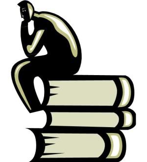 Mann auf Bücher clipart