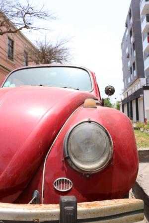 Oldtimer VW Käfer Frontansicht
