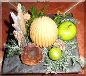 Modernes Advents-Tisch-Deko gebastelt