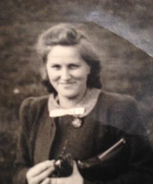 altes Bild einer Frau