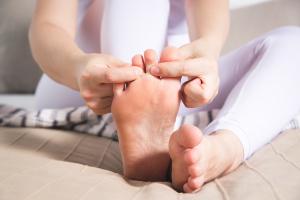Streckung der Wadenmuskulatur