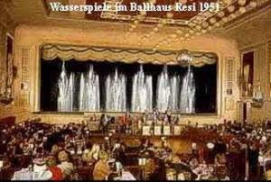 Wasserspiele im Ballhaus Resi 1951