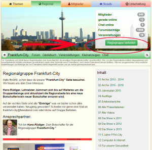 Screenshot Regiogruppe beitreten
