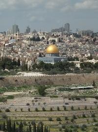 Reise durch Israel - Blick vom Öl- zum Tempelberg