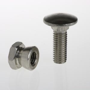Anti-theft bolt and nut For electro forge-welded grating