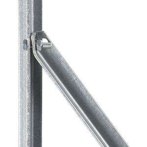 Basic galvanized L-shaped brace arm Stainless L-shaped brace arm