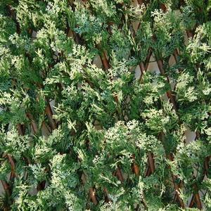Divy 3D X-Tens Cyprus Siepe sintetica su traliccio in salice con foglie di cipresso