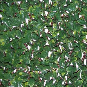 Divy 3D X-Tens Osmanthus Siepe sintetica su traliccio in salice con foglie di osmanto