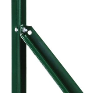 Eco green L-shaped brace arm Cost-effective plastic coated L-shaped brace arm