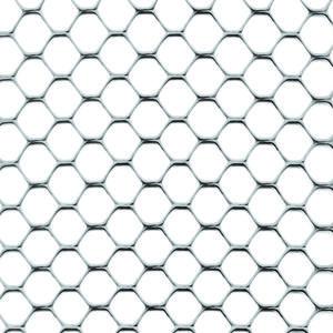 Exagon argento Rete con bordi lisci non taglienti