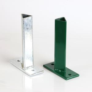 Galvanized support plate with flange T 35 To bolt a 35x35 T-post to a wall
