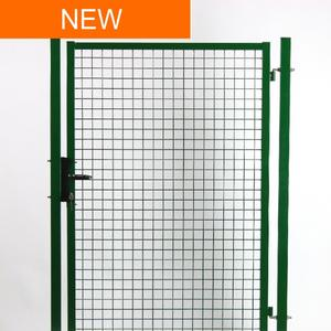 Green Garden gate With stainless steel accessories
