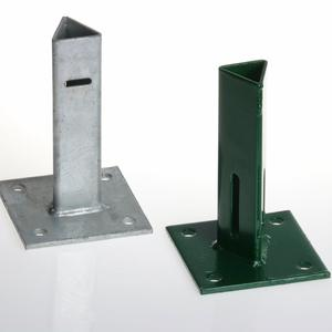 Green support plate with flange T 30 To bolt a T30-post to a wall