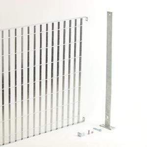 Kit recinzione a pannelli in grigliato zincato Il modo per recintare con i famosi pannelli, più facile ed economico