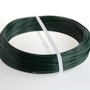 Green PVC coated tension wire Ø 2.7 mm Cheap and effective