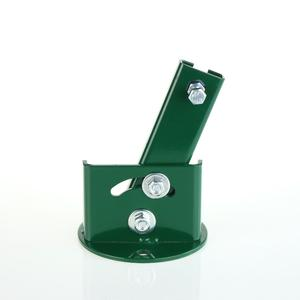 Round inclinable T 30 post support plate Green round support plate to bolt to a sloping wall