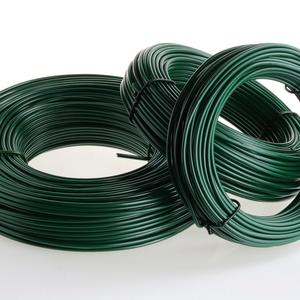 Soft green PVC coated tension wire Ø 4 mm Thick and malleable