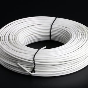 White PVC Coated tension wire Ø 4 mm Thick and malleable