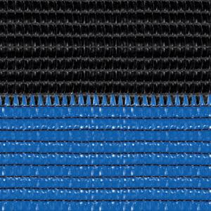 Soleado Sport nero e azzurra Ombreggiante a strisce