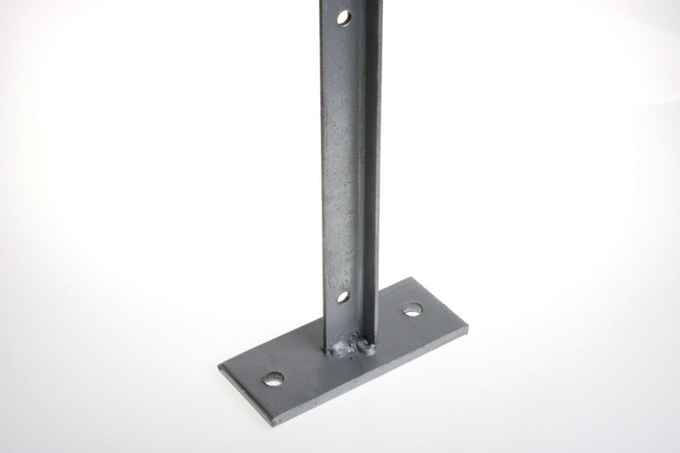 poteau t galvanis avec platine de fixation pour la pose sur muret achetez en ligne sur. Black Bedroom Furniture Sets. Home Design Ideas