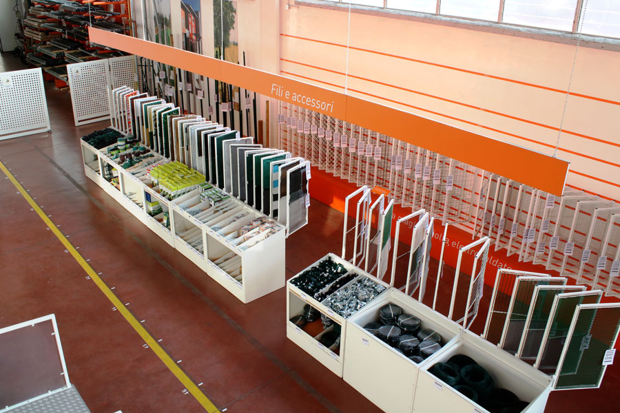 Lo showroom di Rete Plastic ad Alpignano (TO).