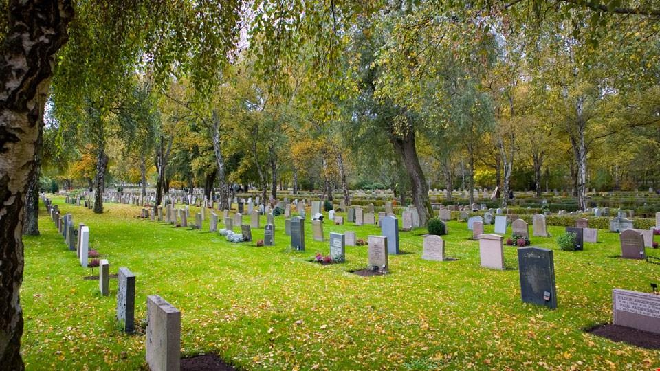 södertälje kyrkogård karta