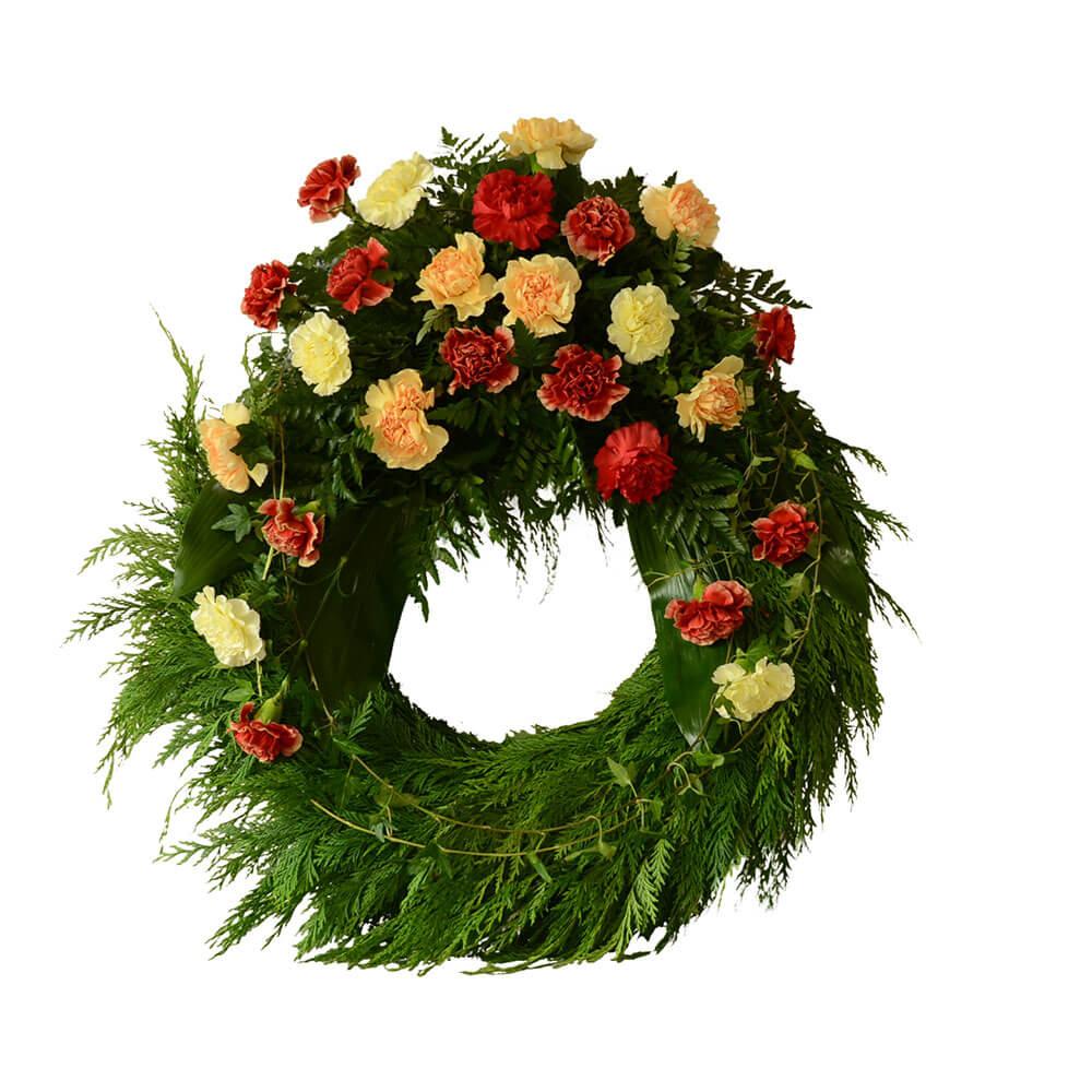 krans vid begravning