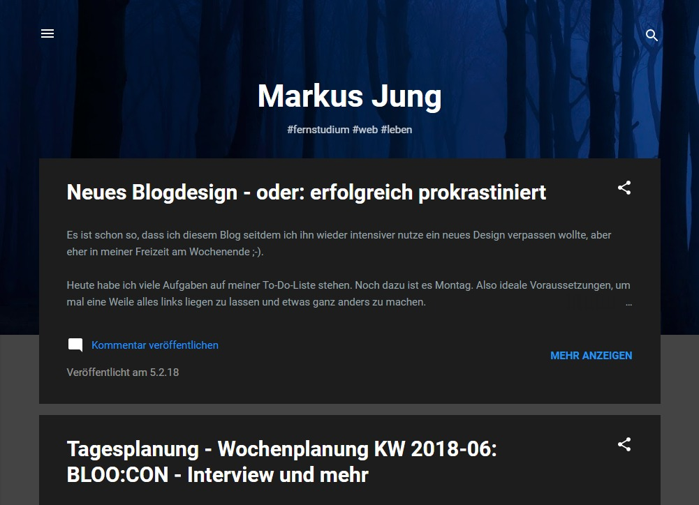 Blog Markus Jung