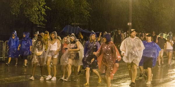 Lollapalooza evacuated due to severe bad weather