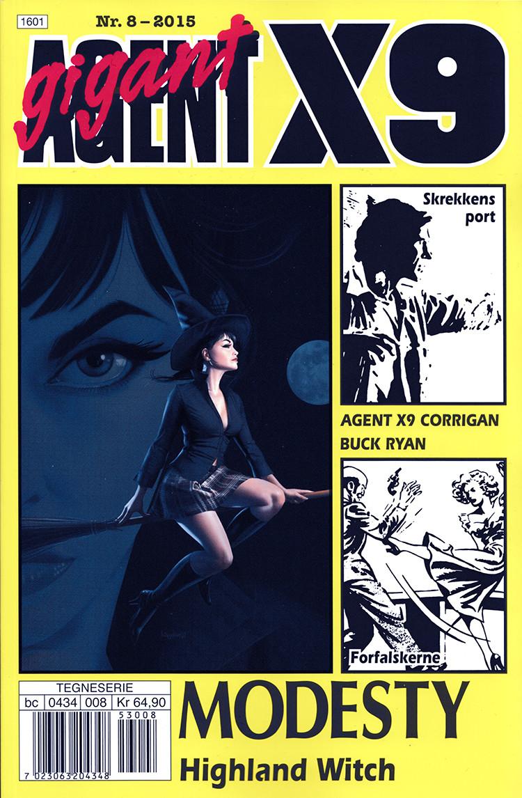 Agent X9 nummer 8 - 2015. Den siste utgaven av bladet.