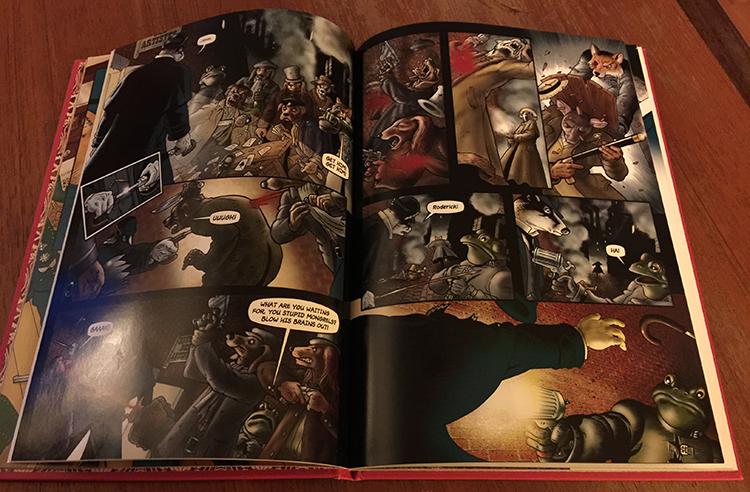 Side 26 og 27 fra Grandville, der LeBrock får sitt første møte med sine motstandere