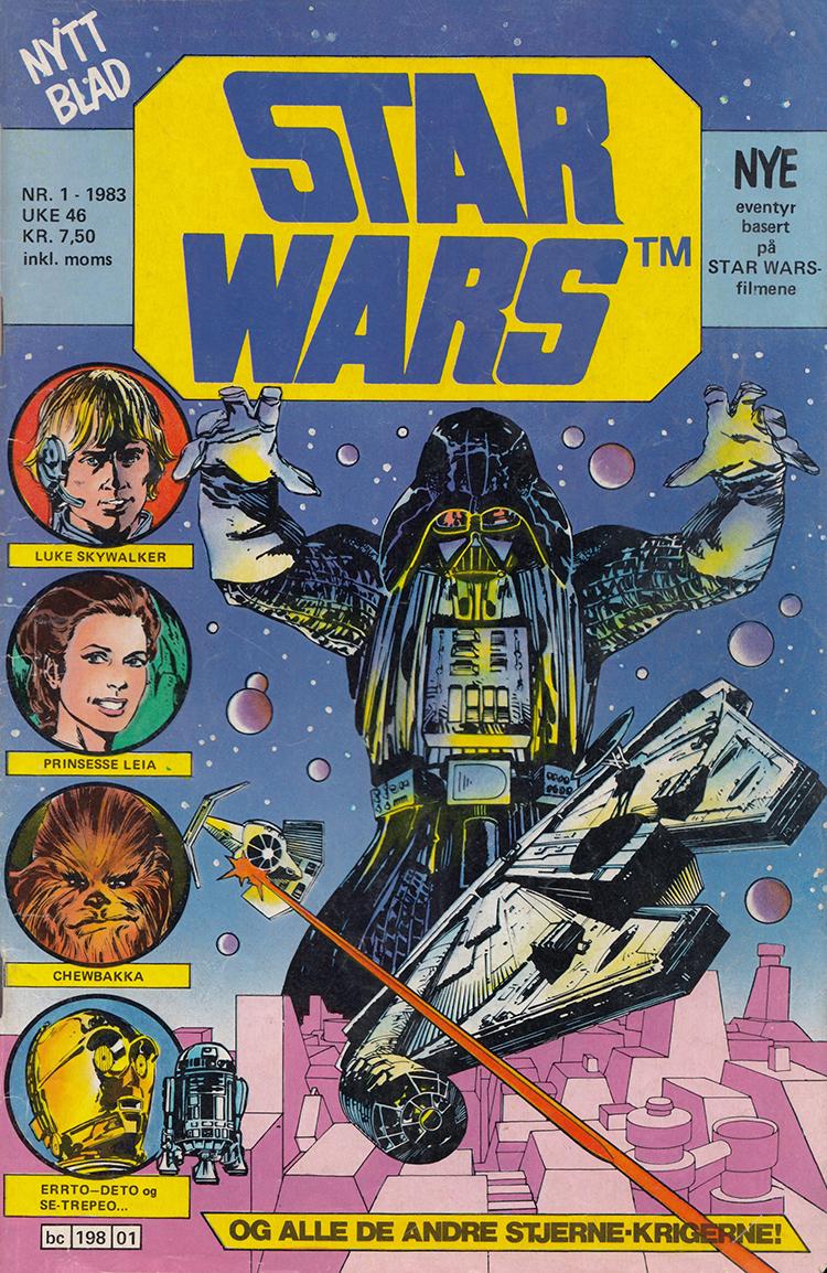 Første nummer av det norske Star Wars-bladet