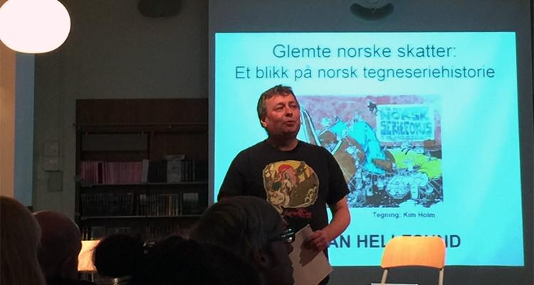 Kristian Hellesund på Tegneseriefest hos Cappelen Damm