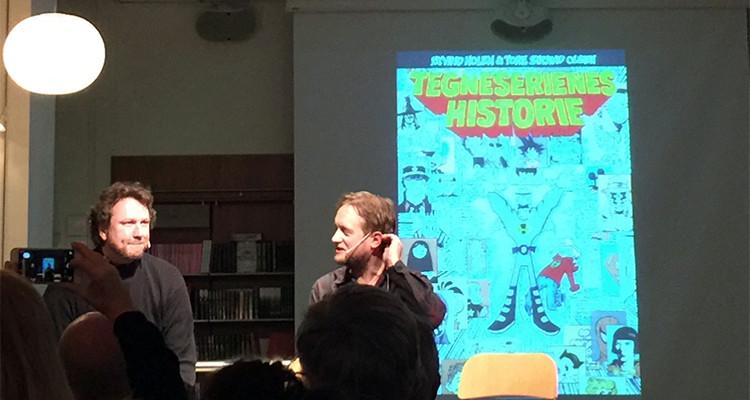 Tore Strand Olsen og Øyvind Holen på Tegneseriefest hos Cappelen Damm
