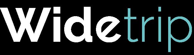 Logo wide trip blanc bleu
