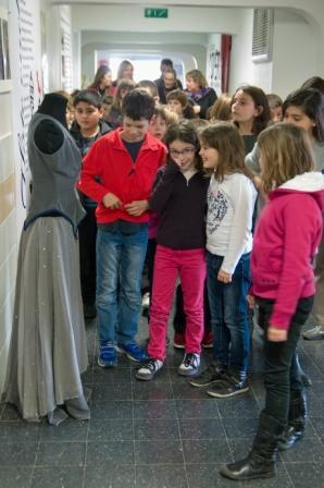 Visite des élèves au lycée Argouges