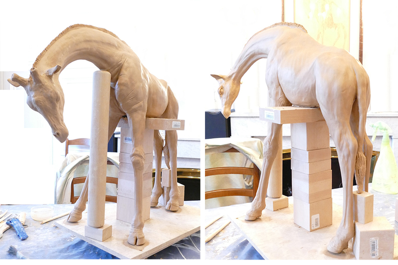 La maquette de la girafe