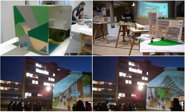 Travaux en architecture, maquettes, projections