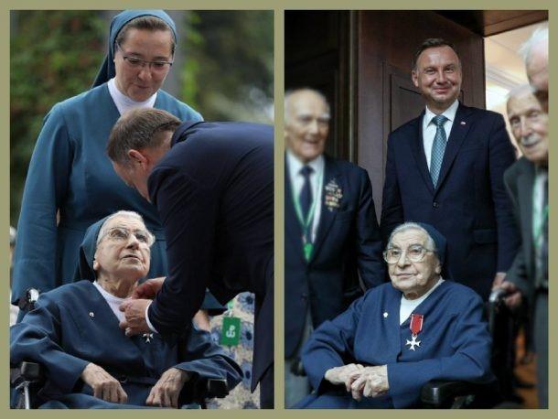 Remise de la Croix des Chevaliers de l'Ordre de Polonia Restituta à Sr Józefa SŁUPIAŃSKA