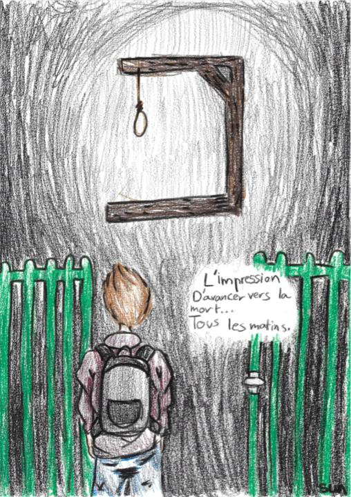La Phobie Scolaire illustrée par Sunny (jeune d
