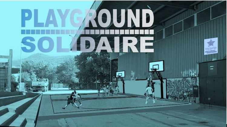 Un Playground solidaire à Grenoble : Le 1er terrain de basket construit par ses joueurs