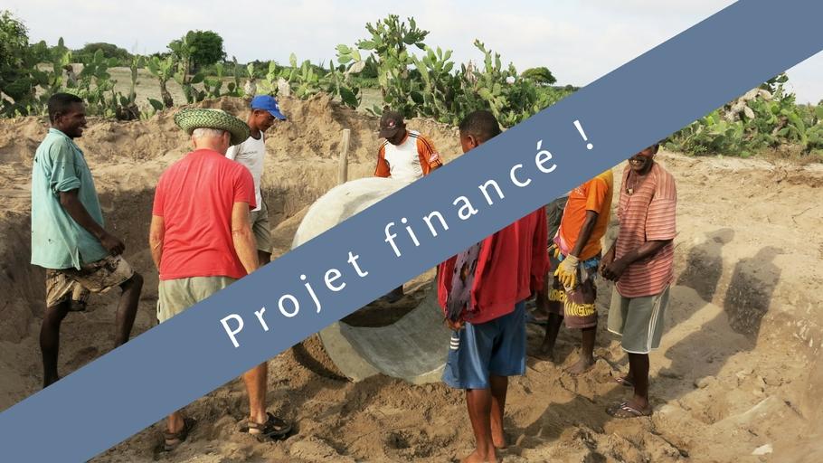 L'eau si précieuse : Construction de 3 puits au sud de Madagascar