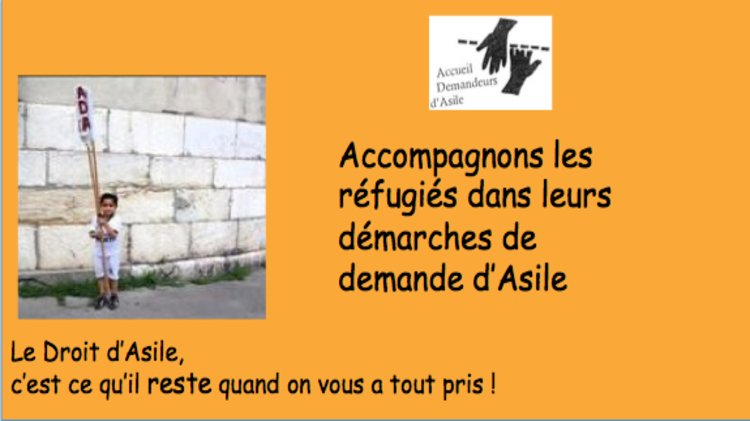 Droit d'asile et réfugiés :  ADA aide les demandeurs d'asile, aidez l'ADA  !
