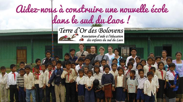 Terre d'Or des Bolovens : Creation d'une école dans le Sud Laos