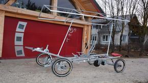 Challenge vélo solaire 5 places : Le Vertaco: le vélo des artisans locaux.